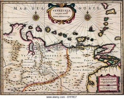 map-of-venezuela-south-america-circa-1630-d1frc7
